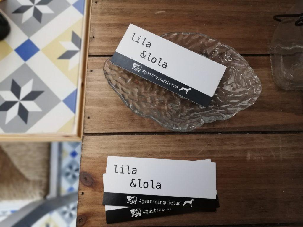 tarjetas de visita del restaurante